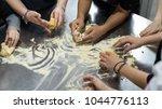 kids cooking class | Shutterstock . vector #1044776113