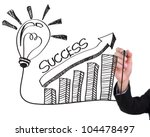 businessman hand drawing light... | Shutterstock . vector #104478497