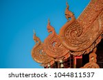 intricate detail of gable end... | Shutterstock . vector #1044811537