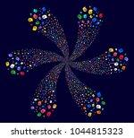 multicolored intellect gears... | Shutterstock . vector #1044815323