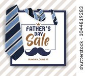 father's day sale promotion... | Shutterstock .eps vector #1044819283