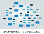 mega mind map  flowchart ... | Shutterstock .eps vector #1044836233