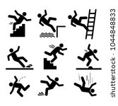 set of caution symbols with... | Shutterstock .eps vector #1044848833