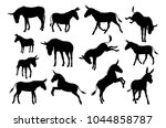 a set of detailed high quality...   Shutterstock .eps vector #1044858787