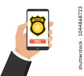 emergency call 911 concept.... | Shutterstock .eps vector #1044868723