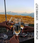 hit the glasses. cheers. | Shutterstock . vector #1044881317