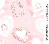 seamless pattern. pink  white...   Shutterstock .eps vector #1044888157