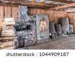 woodpile at shrovetide  pancake ... | Shutterstock . vector #1044909187