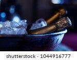 bottles of expensive champagne... | Shutterstock . vector #1044916777