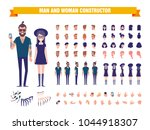 young man and woman character... | Shutterstock .eps vector #1044918307