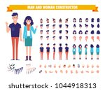 young man and woman character... | Shutterstock .eps vector #1044918313