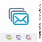 mail stack   zap duo icons. a... | Shutterstock .eps vector #1044920047