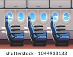 economy class airliner seats... | Shutterstock .eps vector #1044933133