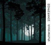 vector illustration of a deep... | Shutterstock .eps vector #1044939433