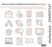 set icons  media and... | Shutterstock .eps vector #1044947167