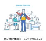 dismissal from work.... | Shutterstock .eps vector #1044951823