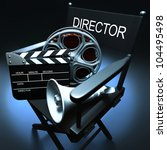 Concept of Industry cinematographic. - stock photo