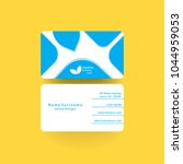clean business card template.... | Shutterstock .eps vector #1044959053