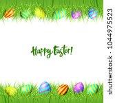 happy easter background. vector ...   Shutterstock .eps vector #1044975523