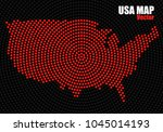 abstract usa map of radial dots ... | Shutterstock .eps vector #1045014193