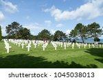 usa military cemetery ... | Shutterstock . vector #1045038013