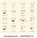 emotions. cartoon facial... | Shutterstock .eps vector #104504273