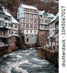 monschau in germany. | Shutterstock . vector #1045067017