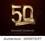50th years anniversary...   Shutterstock .eps vector #1045073197