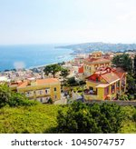 top view of the city of naples  ... | Shutterstock . vector #1045074757