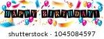 happy birthday celebration...   Shutterstock .eps vector #1045084597