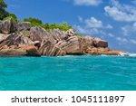 beautiful tropical st. pierre...   Shutterstock . vector #1045111897