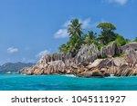 beautiful tropical st. pierre...   Shutterstock . vector #1045111927
