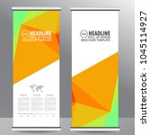 roll up business brochure flyer ... | Shutterstock .eps vector #1045114927