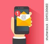 notification of new message in... | Shutterstock .eps vector #1045130683