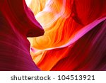 The Antelope Canyon, Page, Arizona, USA.  The second edition with the expanded range - stock photo