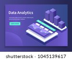 data analytics concept banner.... | Shutterstock .eps vector #1045139617