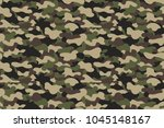 camouflage seamless pattern.... | Shutterstock .eps vector #1045148167