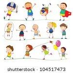 illustration of simple kids... | Shutterstock .eps vector #104517473