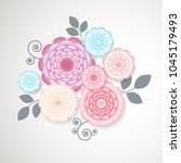 floral background. flowers....   Shutterstock .eps vector #1045179493