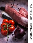 vertical photo of whole pork... | Shutterstock . vector #1045180147