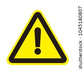 attention sign icon. warning... | Shutterstock .eps vector #1045180807
