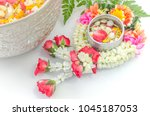 water with thai perfume in... | Shutterstock . vector #1045187053