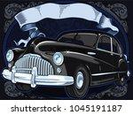 retro vintage vector 60s 50s... | Shutterstock .eps vector #1045191187