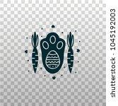 easter bunny  rabbit   hare paw ... | Shutterstock .eps vector #1045192003