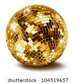 golden disco mirror ball... | Shutterstock . vector #104519657