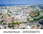 aerial view of tel aviv skyline ... | Shutterstock . vector #1045206073