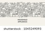 household appliances banner... | Shutterstock .eps vector #1045249093