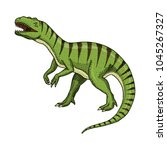 dinosaurs tyrannosaurus rex ... | Shutterstock .eps vector #1045267327