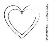 grunge heart love symbol of... | Shutterstock .eps vector #1045272667
