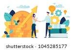 vector business illustration on ... | Shutterstock .eps vector #1045285177